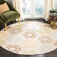 Martha Stewart by Safavieh Quilt Cream Cotton Rug - 6' Round
