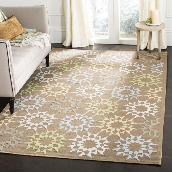 Martha Stewart by Safavieh Quilt Pebble/ Grey Cotton Rug - 9' 6 x 13' 6