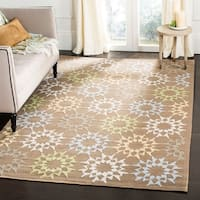 Martha Stewart by Safavieh Quilt Pebble/ Grey Cotton Rug - 5'6 x 8'6
