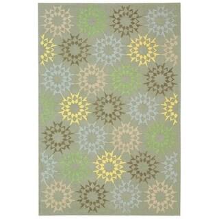 Martha Stewart by Safavieh Quilt Opal/ Grey Cotton Rug (7' 9 x 9' 9)