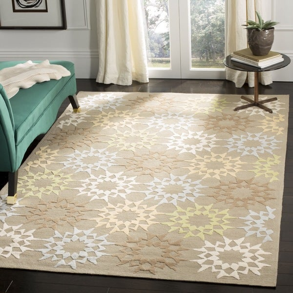 Martha Stewart by Safavieh Quilt Opal/ Grey Cotton Rug - 7'9 x 9'9