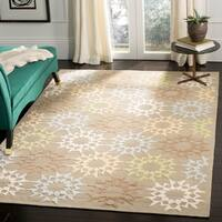 Martha Stewart by Safavieh Quilt Opal/ Grey Cotton Rug - 8'6 x 11'6