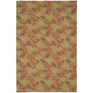 Martha Stewart by Safavieh Meadow Crimson/ Clover Wool Rug (8' 6 x 11' 6)