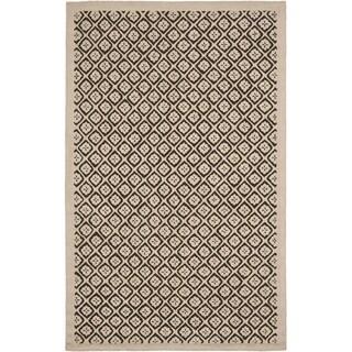 Martha Stewart Blossom Lattice Natural Twine Wool Rug (5' 6 x 8' 6)