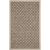 Martha Stewart by Safavieh Blossom Lattice Natural Twine Wool Rug - 5'6 x 8'6