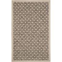 Martha Stewart by Safavieh Blossom Lattice Natural Twine Wool Rug - 7'9 x 9'9
