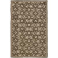 Martha Stewart by Safavieh Puzzle Molasses Brown Wool Rug - 5'6 x 8'6