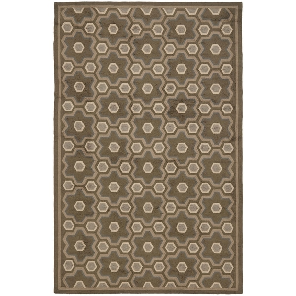 Martha Stewart by Safavieh Puzzle Molasses Brown Wool Rug - 8'6 x 11'6