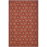Martha Stewart by Safavieh Puzzle Chocolate Cosmos Brown Wool Rug - 5'6 x 8'6