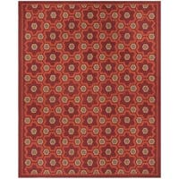 "Martha Stewart by Safavieh Puzzle Chocolate Cosmos Brown Wool Rug - 7'9"" x 9'9"""