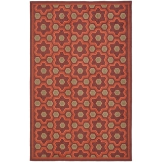 Martha Stewart by Safavieh Puzzle Chocolate Cosmos Brown Wool Rug (8' 6 x 11' 6)