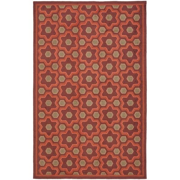 Martha Stewart by Safavieh Puzzle Chocolate Cosmos Brown Wool Rug - 8'6 x 11'6