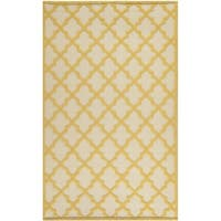 Martha Stewart by Safavieh Vermont Ivory/ Gold Wool Rug - 5' x 8'