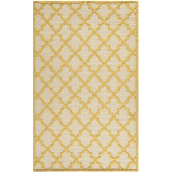 Martha Stewart by Safavieh Vermont Ivory/ Gold Wool Rug - 8' x 10'