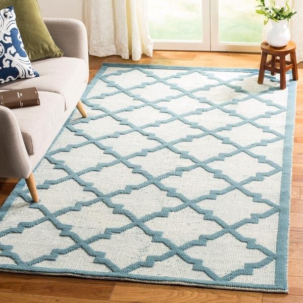 Martha By Safavieh Vermont Ivory Light Blue Wool Area Rug 5 X27