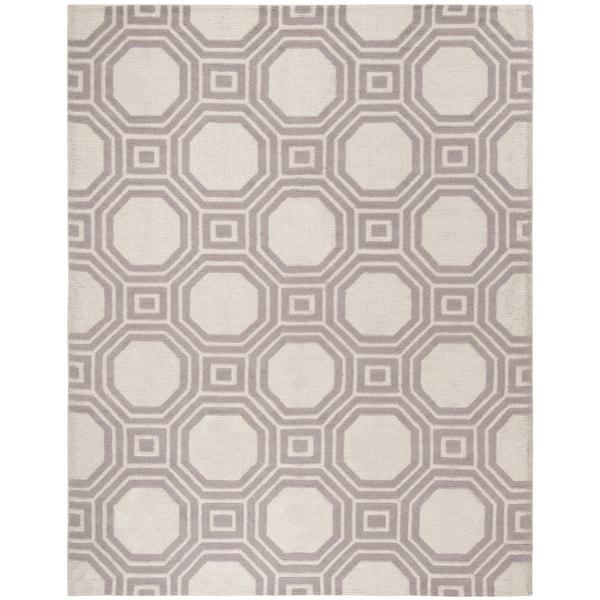 Martha Stewart by Safavieh Vermont Ivory/ Purple Wool Rug - 8' x 10'