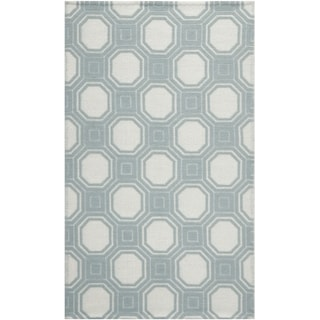 Martha Stewart Vermont Ivory/ Light Blue Wool Area Rug (8' x 10')