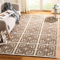Martha Stewart by Safavieh Vermont Ivory/ Brown Wool Rug - 4' x 6'