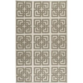 Martha Stewart Vermont Ivory/ Brown Wool Rug (5' x 8')