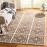 Martha Stewart by Safavieh Vermont Ivory/ Brown Wool Rug - 5' x 8'