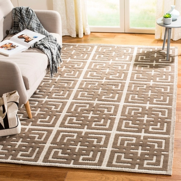 Martha Stewart by Safavieh Vermont Ivory/ Brown Wool Rug - 8' x 10'