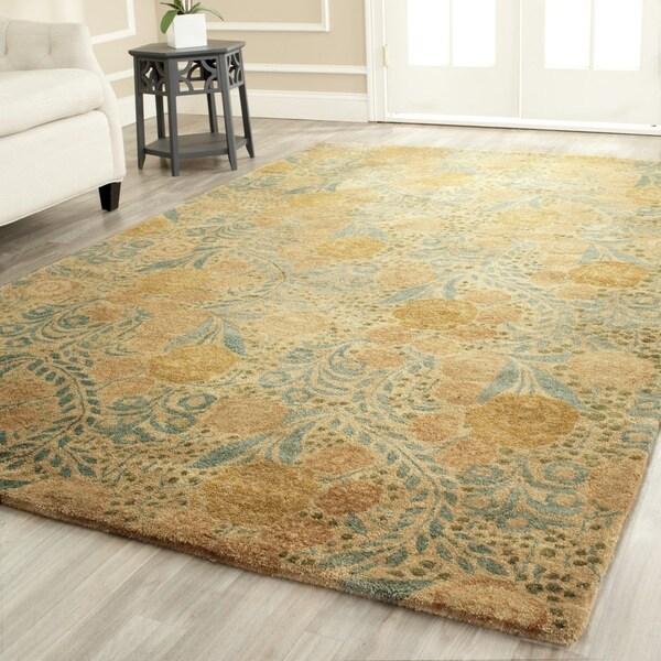 Martha stewart by safavieh arcadia woodland green wool rug for Martha stewart rugs home decorators