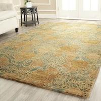 """Martha Stewart by Safavieh Arcadia Woodland Green Wool Rug - 7'9"""" x 9'9"""""""