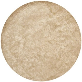 Martha Stewart Damask Honeycomb Wool/ Viscose Rug (6' Round)