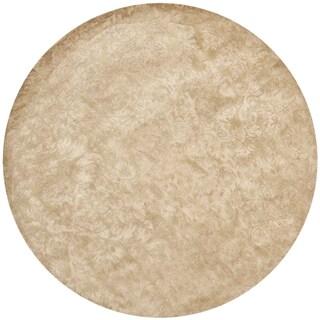 Martha Stewart by Safavieh Damask Honeycomb Wool/ Viscose Rug (6' Round)