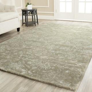 Martha Stewart Damask Sage Wool/ Viscose Rug (9' 6 x 13' 6)
