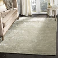 Martha Stewart by Safavieh Damask Sage Wool/ Viscose Rug
