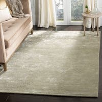 "Martha Stewart by Safavieh Damask Sage Wool/ Viscose Rug (3' 9 x 5' 9) - 3'9"" x 5'9"""