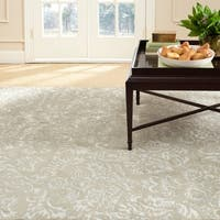 Martha Stewart by Safavieh Damask Sage Wool/ Viscose Rug - 7'9 x 9'9