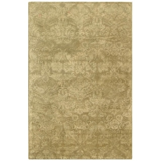 Martha Stewart by Safavieh Damask Sage Wool/ Viscose Rug (8' 6 x 11' 6)