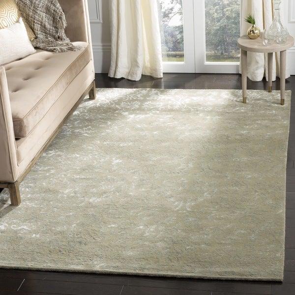 Martha Stewart by Safavieh Damask Sage Wool/ Viscose Rug (8' 6 x 11' 6)