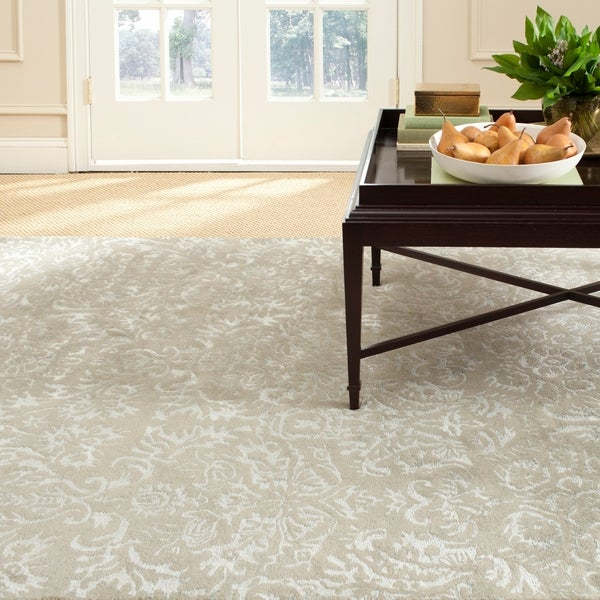 "Martha Stewart by Safavieh Damask Sage Wool/ Viscose Rug - 8'6"" x 11'6"""