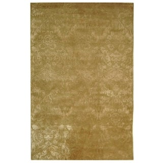 Martha Stewart by Safavieh Damask Mahogany Wool/ Viscose Rug (5' 6 x 8' 6)