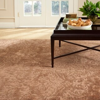 Martha Stewart by Safavieh Damask Mahogany Wool/ Viscose Rug (8' 6 x 11' 6)