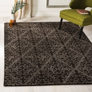 Martha Stewart by Safavieh Strolling Garden Coffee/ Brown Wool/ Viscose Rug (5' 6 x 8' 6)