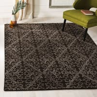 Martha Stewart by Safavieh Strolling Garden Coffee/ Brown Wool/ Viscose Rug - 5'6 x 8'6