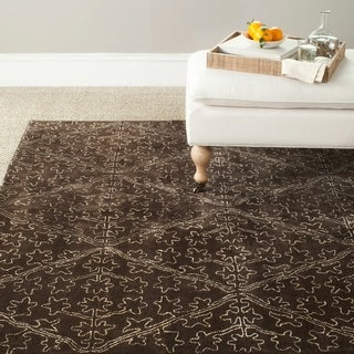 Martha Stewart Strolling Garden Coffee/ Brown Wool/ Viscose Rug (7' 9 x 9' 9)