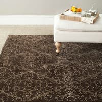 Martha Stewart by Safavieh Strolling Garden Coffee/ Brown Wool/ Viscose Rug - 8'6 x 11'6
