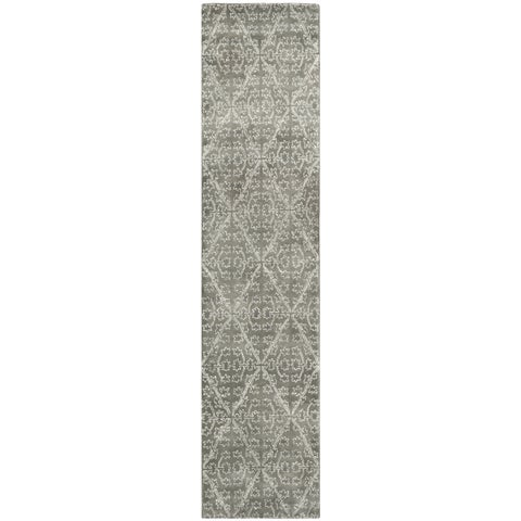 "Martha Stewart by Safavieh Strolling Rock Garden/ Grey Wool/ Viscose Rug - 2'3"" x 10'"