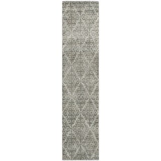 Martha Stewart Strolling Rock Garden/ Grey Wool/ Viscose Rug (2' 3 x 10')