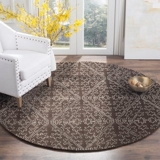 Martha Stewart by Safavieh Strolling Rock Garden/ Grey Wool/ Viscose Rug (8' 6 x 11' 6)
