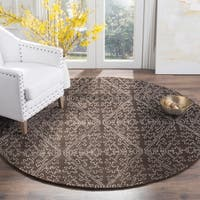 "Martha Stewart by Safavieh Strolling Rock Garden Grey Wool/ Viscose Rug - 8'6"" x 11'6"""