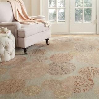 Martha Stewart by Safavieh Parasols Herbal Garden Wool/ Viscose Rug - 6' Round