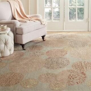 Martha Stewart by Safavieh Parasols Herbal Garden Wool/ Viscose Rug (7' 9 x 9' 9)