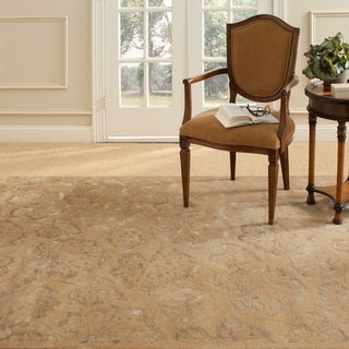 Martha Stewart by Safavieh Geranium Leaf Toffee Wool/ Viscose Rug (8' 6 x 11' 6)