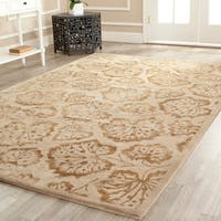 Martha Stewart by Safavieh Geranium Leaf Hazelnut/ Gold Wool/ Viscose Rug - 7'9 x 9'9
